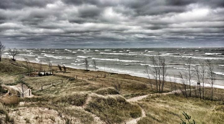 Lakefront Thunderstorm on Lake Michigan Near South Haven Michigan