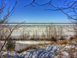 Winter Lake Michigan South Haven Michigan