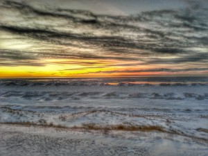 Winter Skies Over Lake Michigan South Haven Michigan