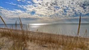 Sun Shining Through Clouds on Lake Michigan South Haven and St Joseph Michigan