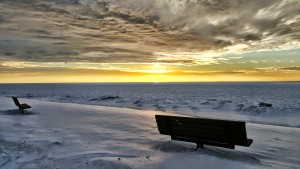 Bench Overlooking Lake Michigan Near South Haven Michigan St Joseph Michigan
