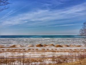 Lake Michigan Winter Nearing End