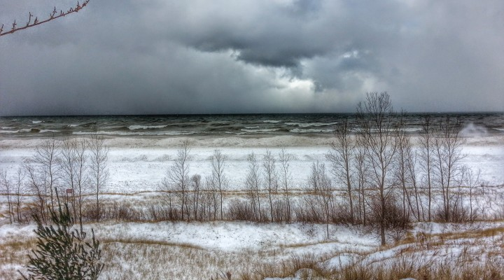 Lake Michigan Winter Snow Near South Haven Michigan
