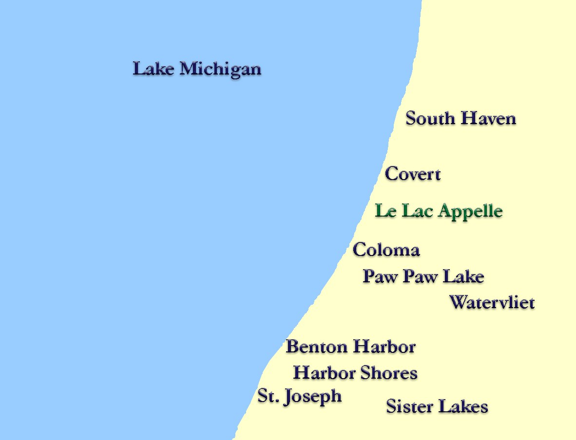 Map lake communities lake path realty for Southwest michigan home builders