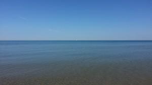 Sailboat on Lake Michigan Near South Haven Michigan