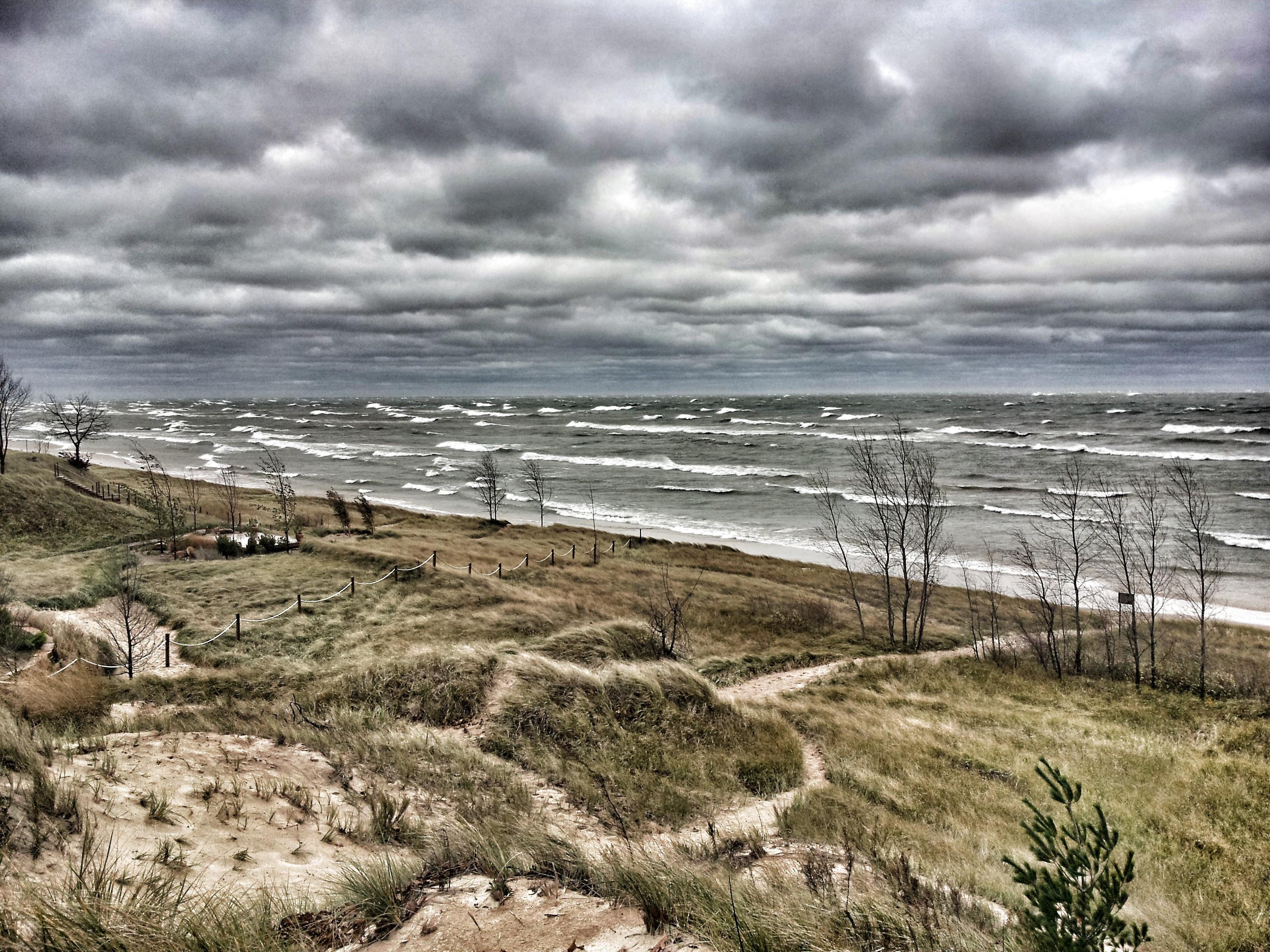 Thunderstorms on Lake Michigan in Southwest Michigan
